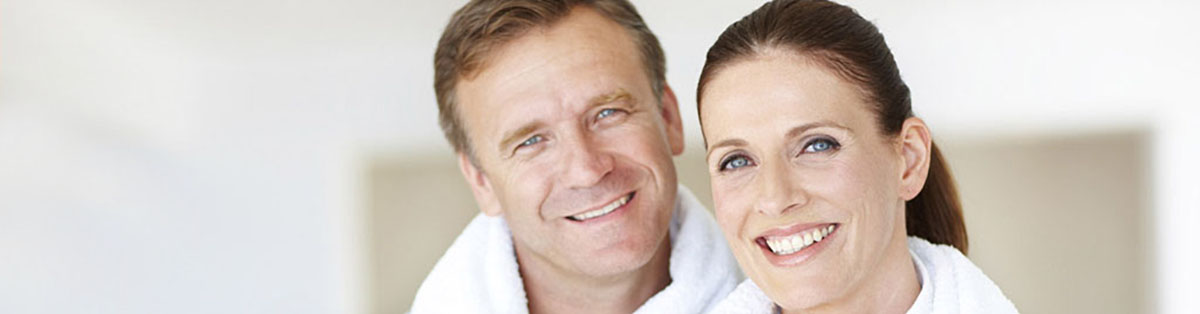 Image healthy couple with good skin care.